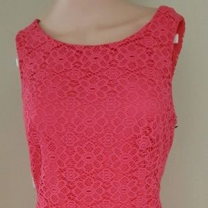 American Living Lace Hot Pink Party Cocktail Dress